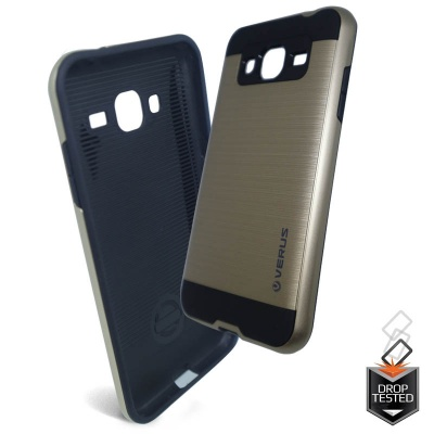 Samsung Galaxy J3(2016) Shockproof Dual Layered Back Case Gold